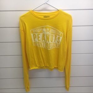 Peanuts cropped long sleeve T-shirt